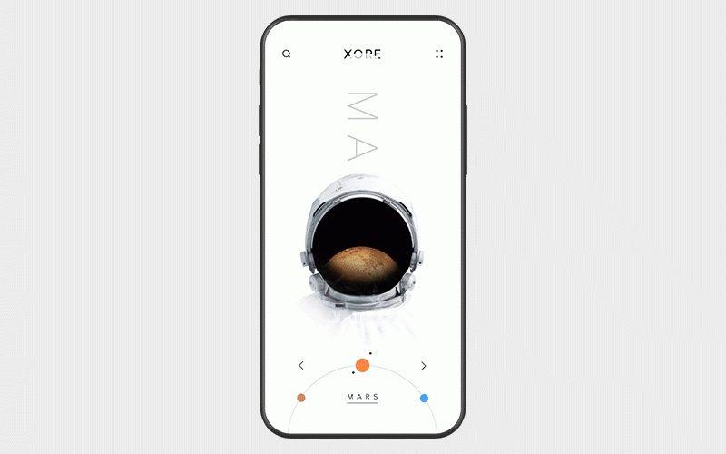 Flutter UI challenge | planets app