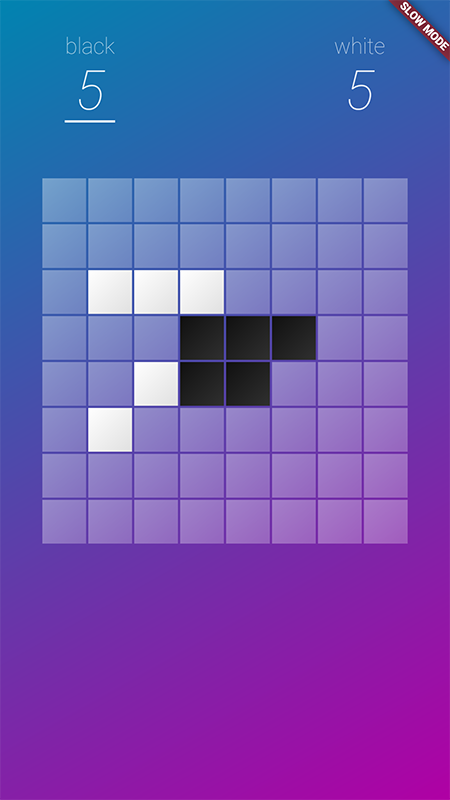 A single-player reversi clone built with Flutter, which compiles for both Android and iOS