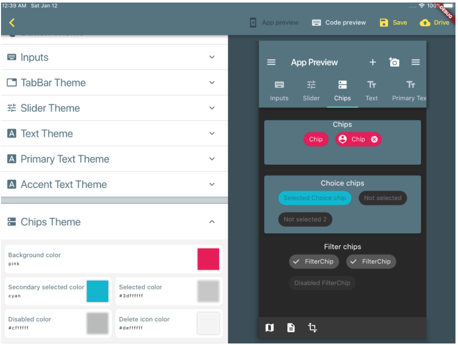 Flutter Material Theme editor | Mobile App Development