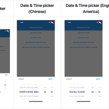 A Date time picker in flutter