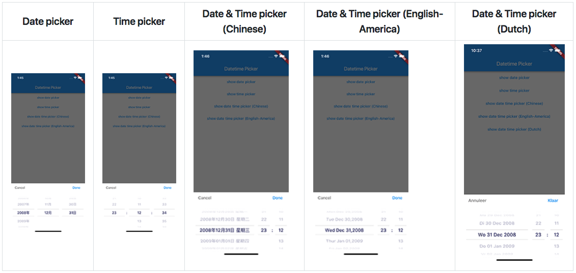 A Date time picker in flutter | Mobile App Development