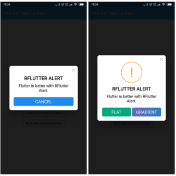 Super customisable and easy-to-use alert  popup dialog library for Flutter