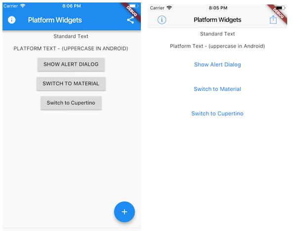 Flutter Platform Widgets | Mobile App Development