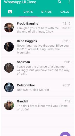 Whatsapp UI clone in flutter.