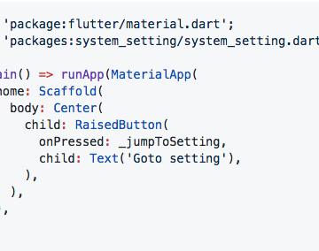 Flutter plugin for jumping to system settings