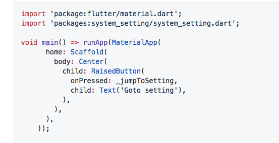 A Flutter plugin for jumping to system settings.