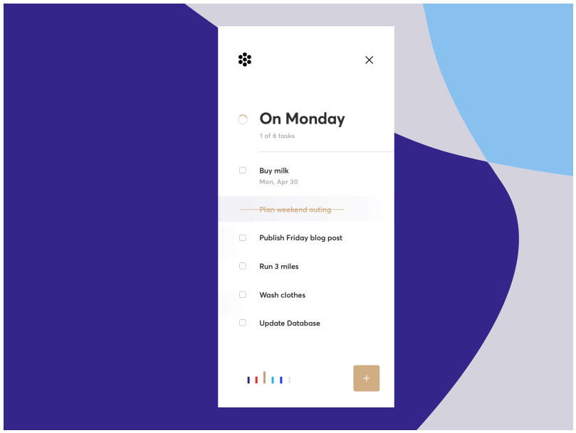 Taskist is a ToDo List app for Task Management inspired by the design below