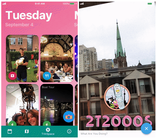 An app for orientation week at Trinity College | University of Toronto  Made with Flutter