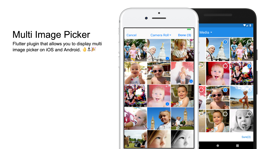 Flutter plugin | allows you to display multi image picker on