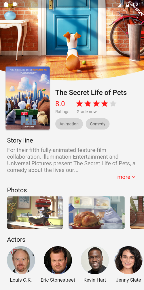 A sample for creating a nice movie details page UI in Flutter