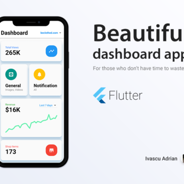 Dashboard concept made with Flutter