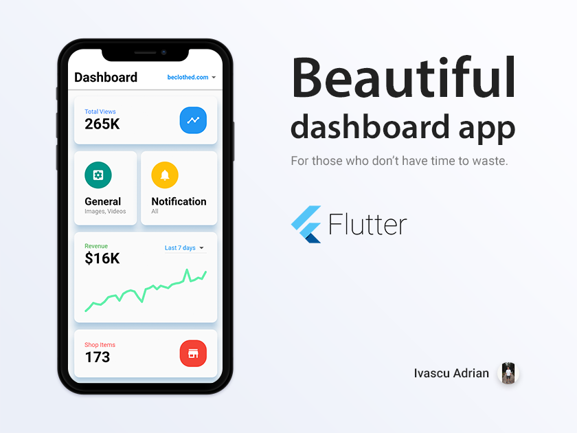 Dashboard concept made with Flutter.