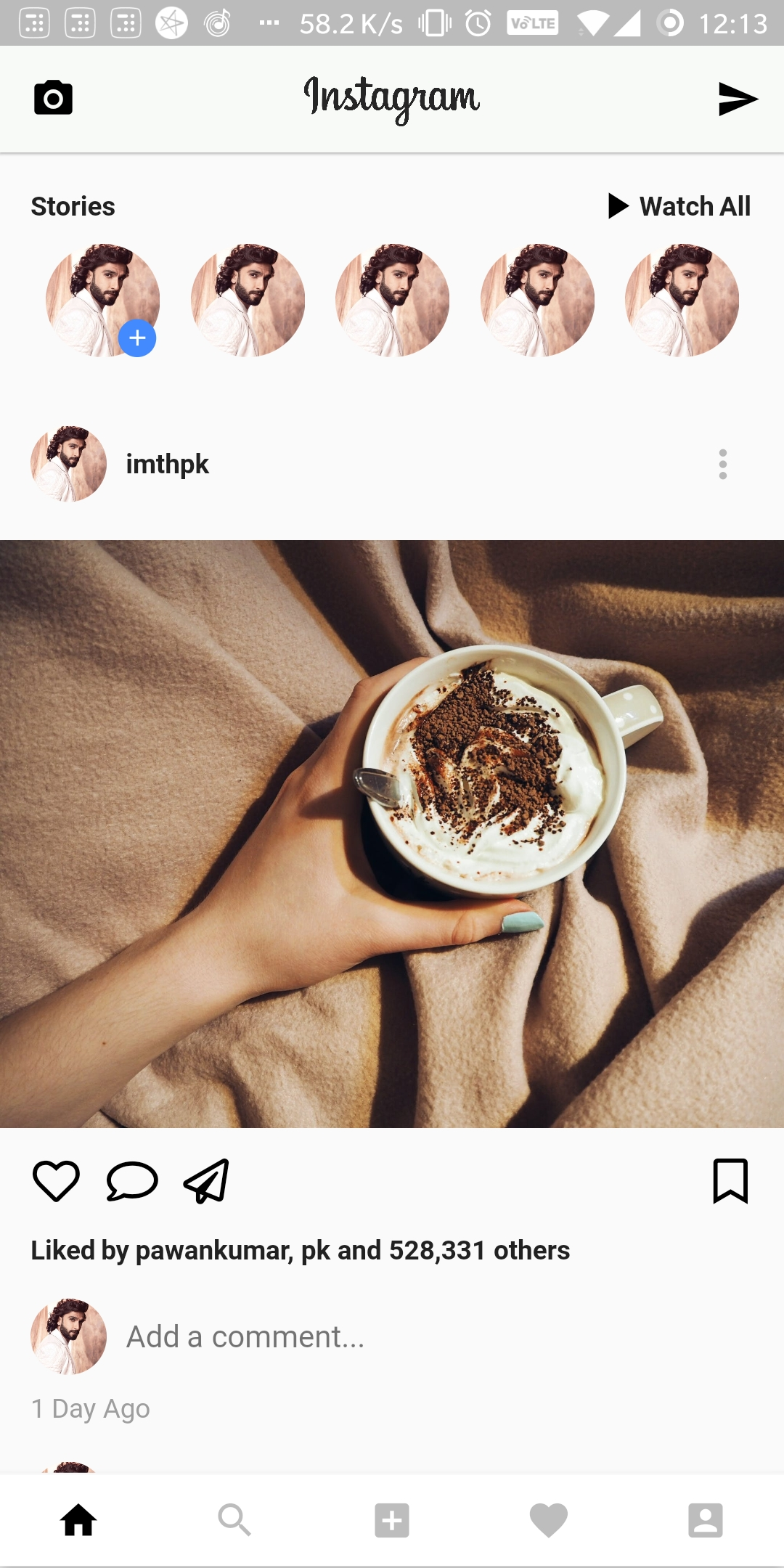 flutter instagram ui clone.