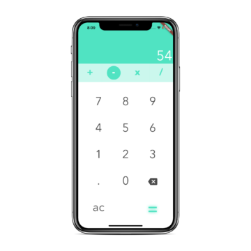 An elegant calculator app written in Flutter
