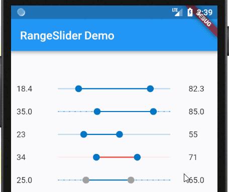 RangeSlider Widget for Flutter