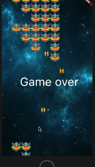 A 2D game in Flutter using the Flame Engine | Galaxy