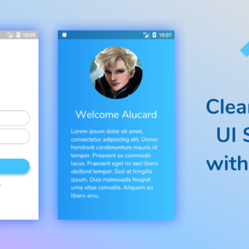 Create a clean and simple login UI screen with a basic hero animation in Flutter