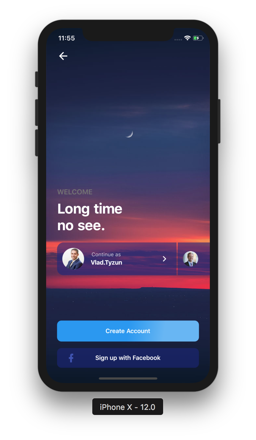 Different set of screens implemented using flutter