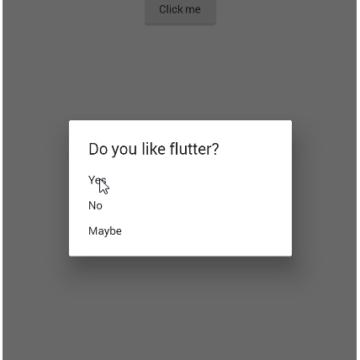 Flutter Dialog Example