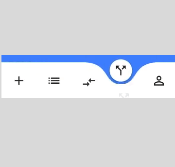 Animated Curved Navigation Bar in Flutter | Mobile App development