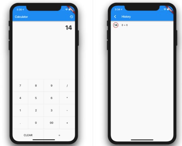 Calculator App built with Flutter