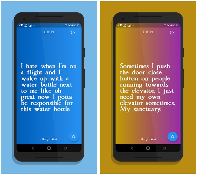 A Flutter app that shows random | wise Kanye West quotes