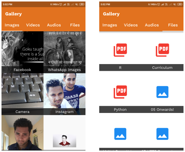 Flutter gallery – Image Audio Video & File