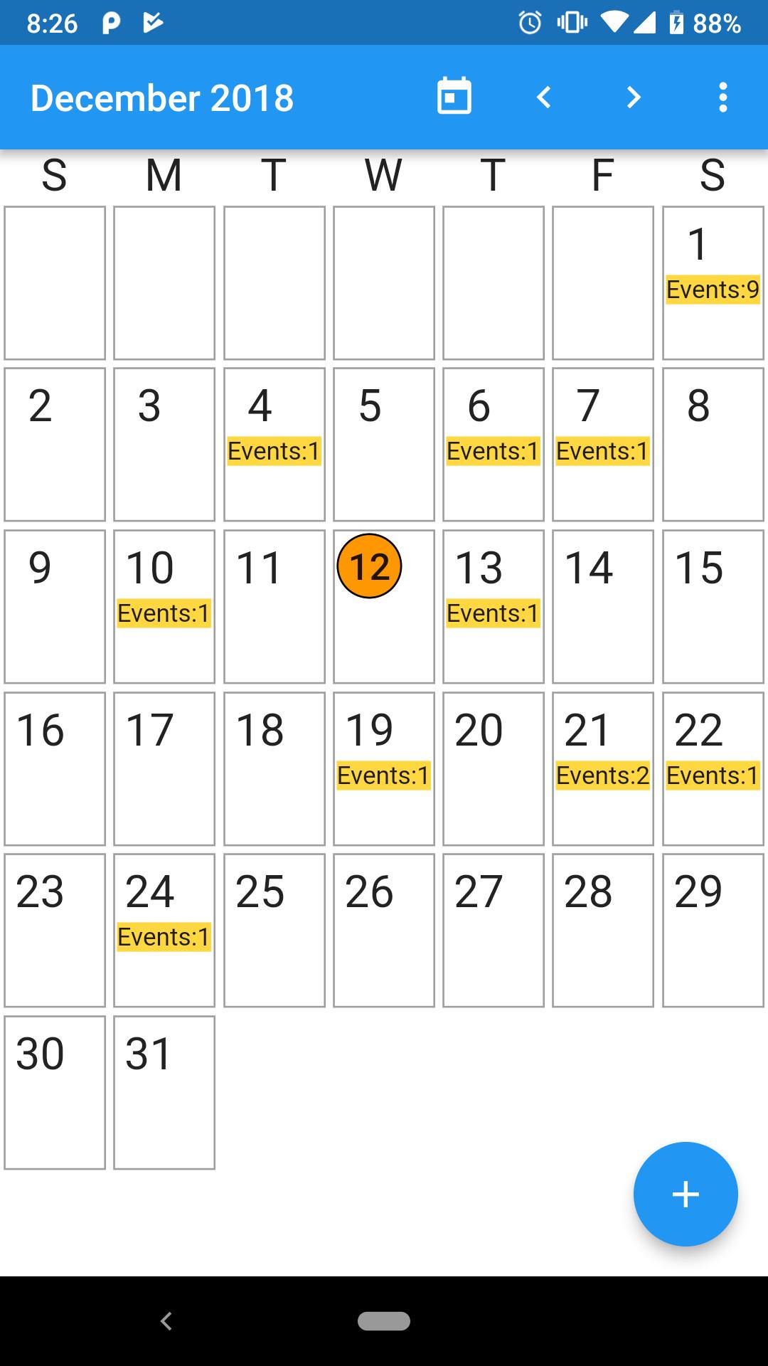 Calendar application written in flutter | dart App Development