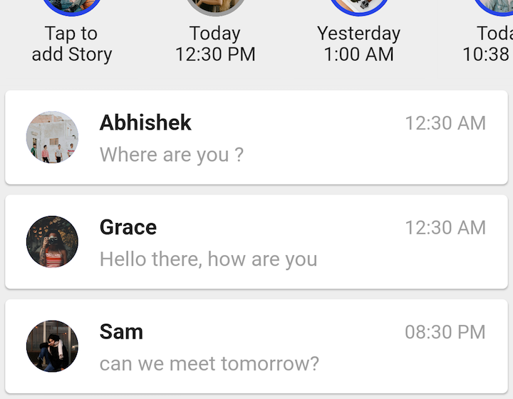 A Messenger built using Flutter