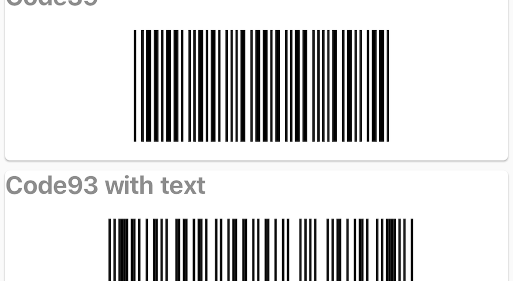 Barcode generate library for Flutter