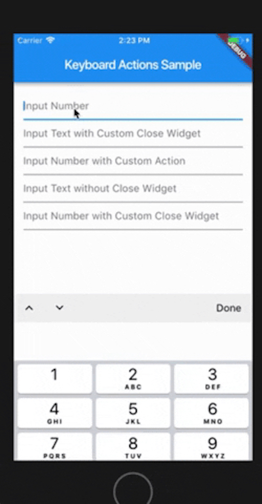Keyboard Actions | Flutter Mobile App Development