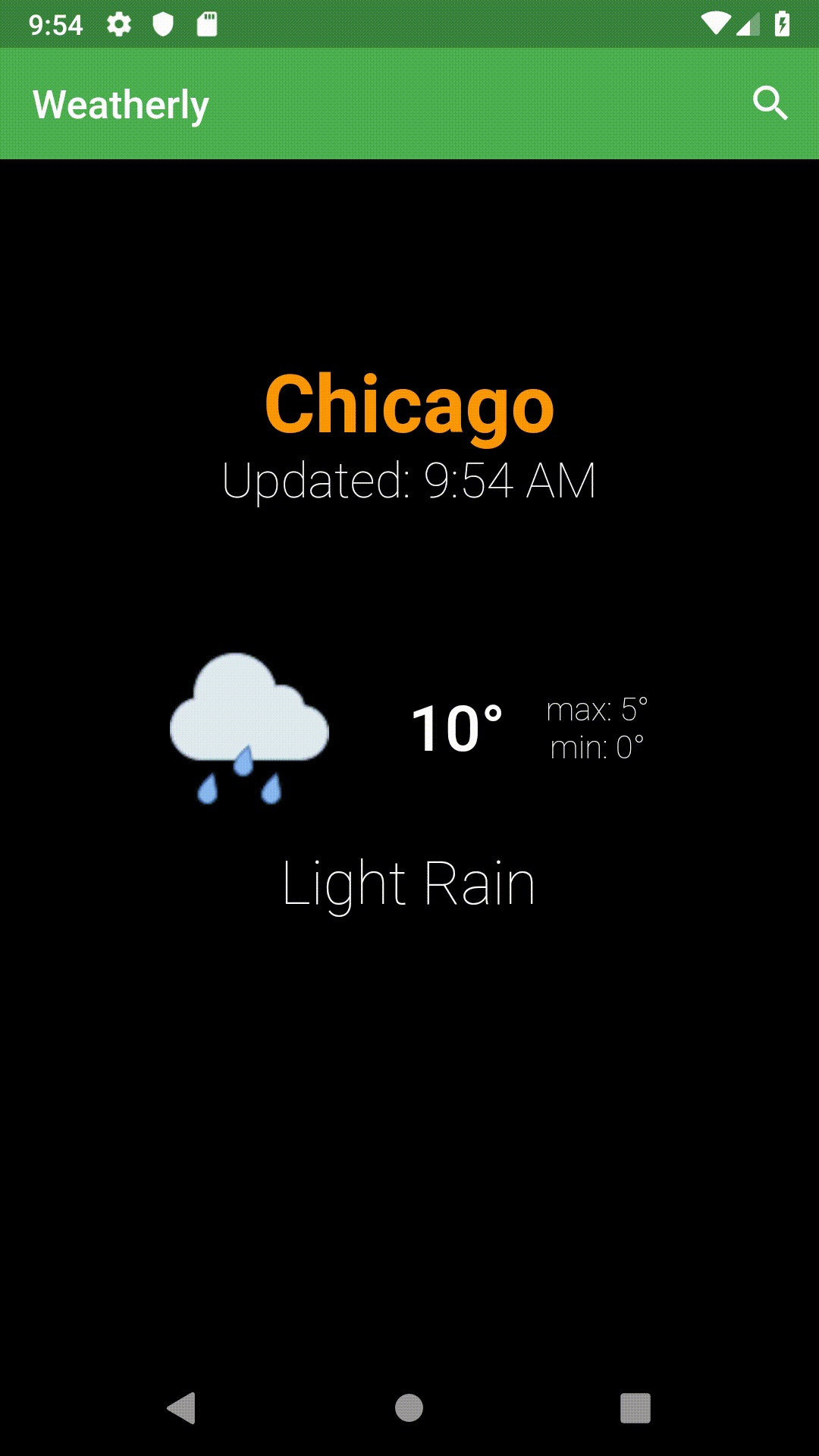 A weather app built in flutter using bloc pattern   Mobile App