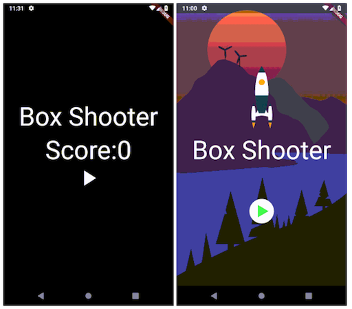 A Simple shooter game created using flutter