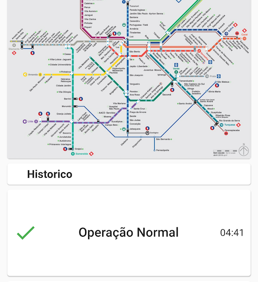 A app made in flutter to follow the status of São Paulo metropolitan trains