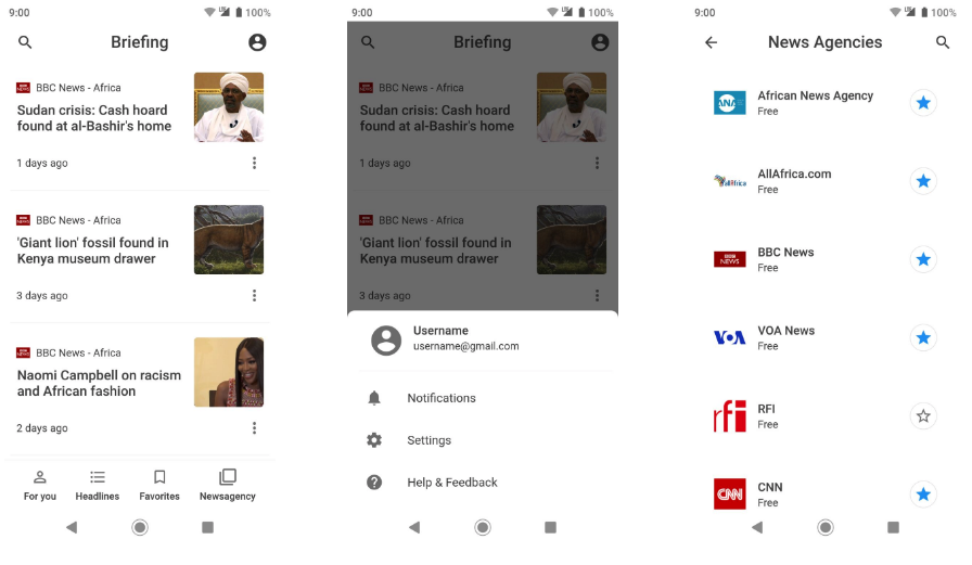 An attempt to clone Google News app design using Flutter