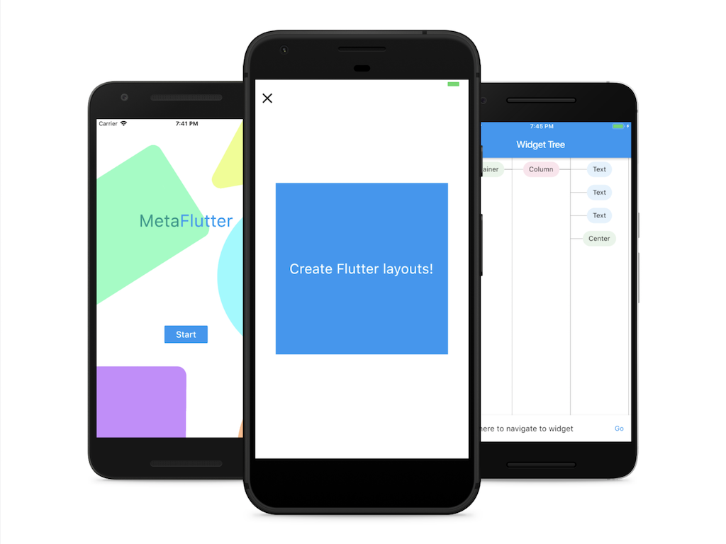 MetaFlutter is a project to create Flutter layouts on device