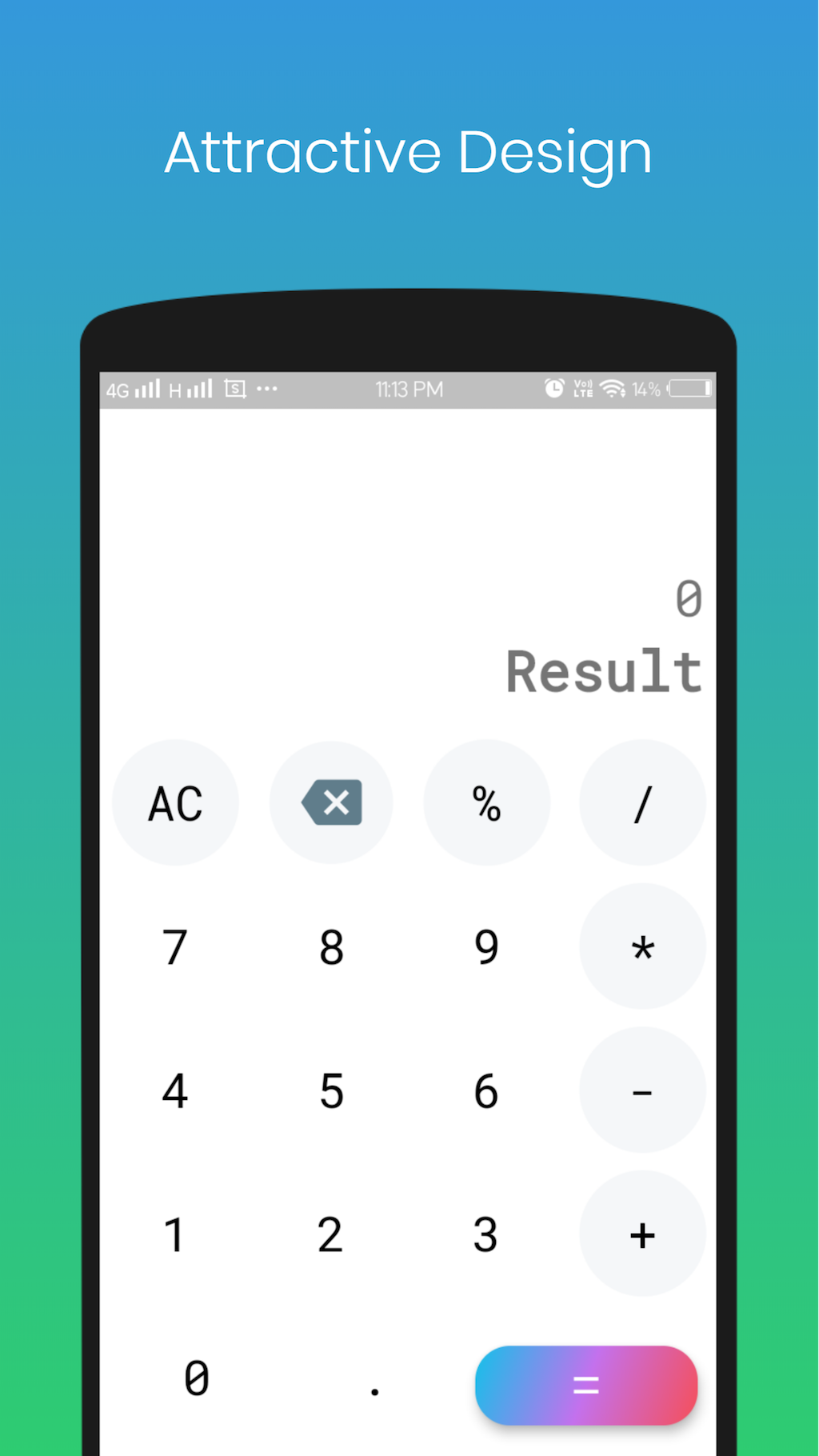 Simple Calculator app made with flutter