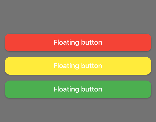 Flutter example using floating buttons and dialogs