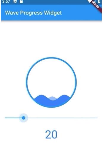 A custom wave progress widget