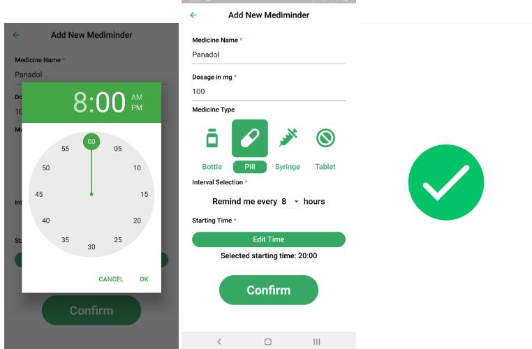 A simple mobile medicine reminder made with Flutter | App ...