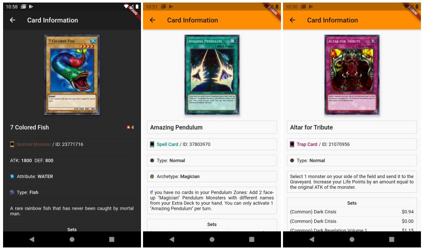 Yugioh Cards Sample App | Flutter App Development