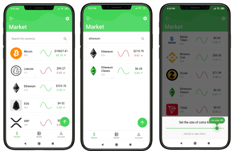 A Cryptocurrency app made with Flutter using Provider and BLoC pattern