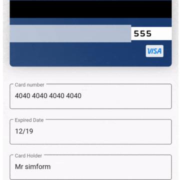 A credit card widget for Flutter application
