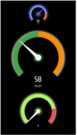 Flutter Speedometer widget package