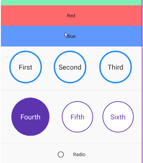 A radio button widget for flutter that supports custom builders and a variable number of animations