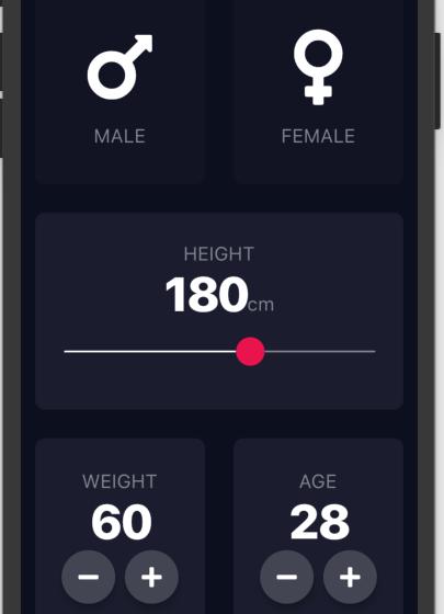 A beautiful BMI calculator app developed using Flutter