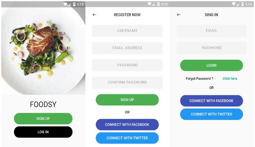 Flutter food app