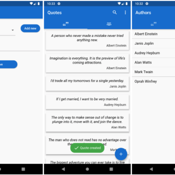 Flutter app for storing quotes