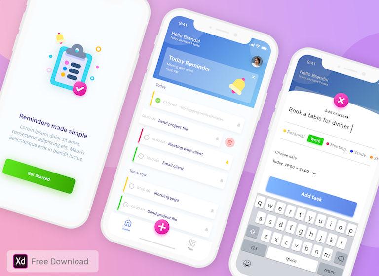 A Flutter based to do list app