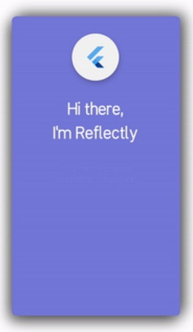 Inspired by Reflectly Login Screen Page in Flutter App